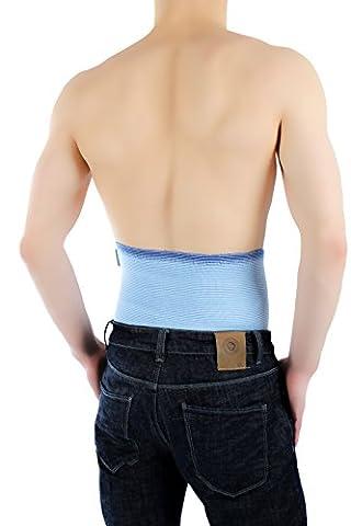 ®BeFit24 Sport Nierengurt für Damen und Herren - Nierenwärmer - Wärmegürtel - Rückenstützgürtel - [ 4/L - Himmelblau ]