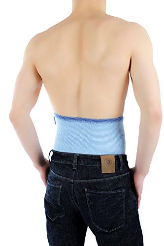 ®befit24 fascia lombare contro il mal di schiena - cintura per la sciatica- ideale per patologie degenerative del disco, previene e cura la lombalgia - [ size 3 - sky blue ]