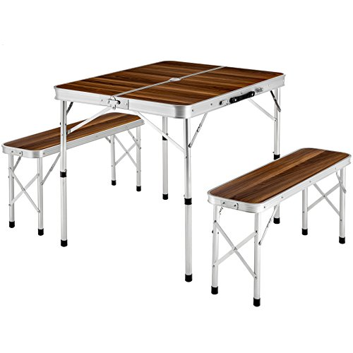 TecTake Ensemble table pliante valise...