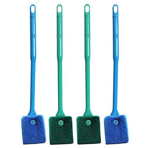 Sharplace 4 Pieza Raspador de Algas Acuario Accesorios Limpiador de Cepillos Cómodo Complimentos