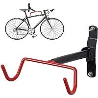 FIVE FLOWER Foldable Bicycle Rack Garage Wall Mounted Bike Hanger Storage System Vertical Hook for Indoor Shed Easily Hang