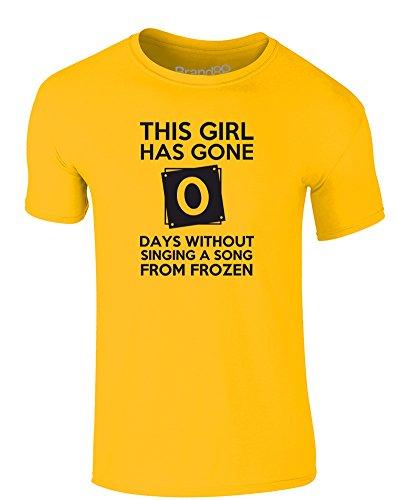 Brand88 - This Girl Has Gone..., Erwachsene Gedrucktes T-Shirt Gänseblümchen-Gelb/Schwarz