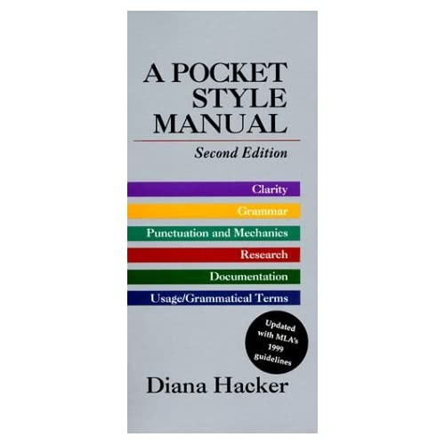 Pocket Style Manual: With MLA's 1999 Guidelines, Updated Edition by Diana Hacker (1999-03-30)