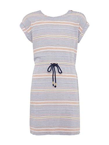 TOM TAILOR für Mädchen Kleider & Jumpsuits Gemustertes Kleid Blue Orange, 164