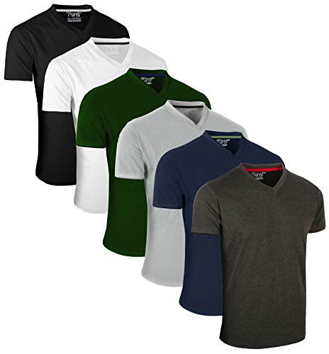 Full Time Sports 6 Pack Assorted V-Ausschnitt T-Shirts (1) X-Large