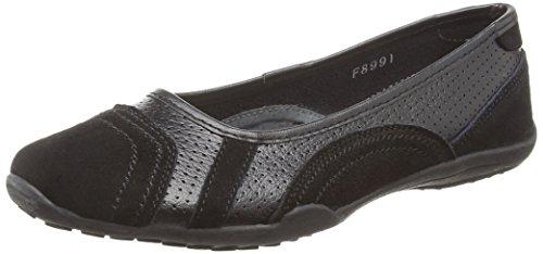 Spot On F8991, Ballerines femme Noir (noir)
