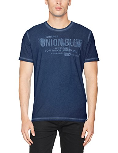 TOM TAILOR Herren 10375286210 Camiseta Para Hombre Azul (Black Iris Blue 6740)
