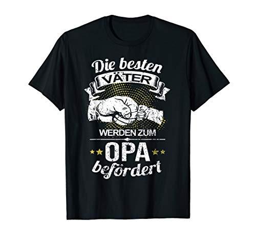 Opa T-shirt (Die Besten Väter Werden Zum Opa Befördert I Geburt I Baby T-Shirt)