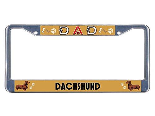 Kennzeichenrahmen für Dackel, Metall, verchromt, ideal für Männer, Frauen, Auto-Garadge -