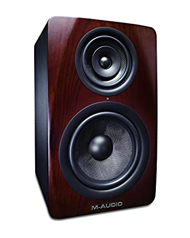 M-Audio M3-8 Professional 3-Way Active Studio Monitor with 8 inch Woven Kevlar Woofer for Music Production, Recording and Mixing (Single)
