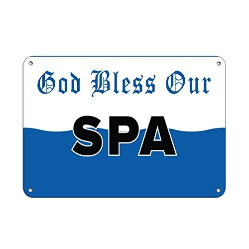 Gott segne unsere Spa Aktivität Pool Deko Schilder mit Sprüche Metall Aluminium Wand Sicherheit Schild