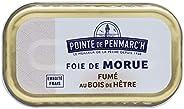 Foie de morue fumé au bois de hêtre Pointe de Penmarc'h le lot de 6 boîtes de 121 g - Livraison en 2 à 3 j