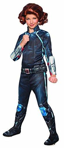 Black Widow Kostüme Girl (Avengers 2 Deluxe Black Widow Costume Child)
