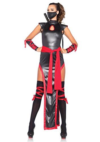 Leg Avenue 85400 - Schatten-Ninja-Damen kostüm, Größe Small (EUR 36) (Kämpfer Mädchen Kostüm)