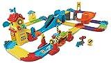 Tut Tut Baby Flitzer / Züge Bahnhof mit Gleisen, Rampe, Zug & Waggons
