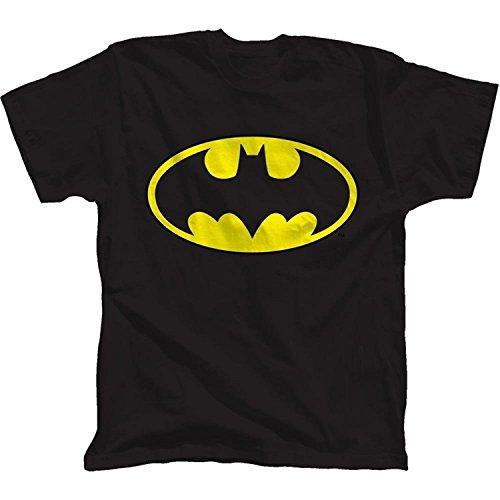 Batman Glow Ink Classic Logo Youth T-Shirt(Large) (Youth-t-shirt Glow)