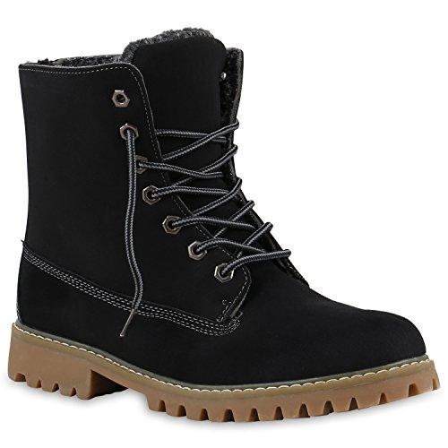 169291954a843f UNISEX Damen Herren Warm Gefütterte Damen Worker Boots Stiefeletten Outdoor  Schwarz Hellbraun