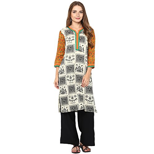 Rama Women's Printed Cotton Kurta