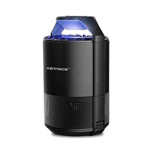 *Keynice Moskito killer Insektenvernichter Elektrisch Ultravioletter LED Insektenlampe Indoor Mückenfalle Mücken Beseitiger Insektenfalle UV Mückenlampe mit Ventilator, Frei (schwarz)*