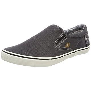MUSTANG Herren 4101-401-9 Slip On Sneaker, Schwarz 9, 44 EU