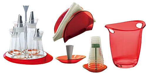 BUGATTI - Set von 5 Stück Glamour - Rot