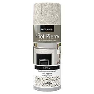 Rust-Oleum AE0454400FR Effet Pierre Peinture aérosol Caillou