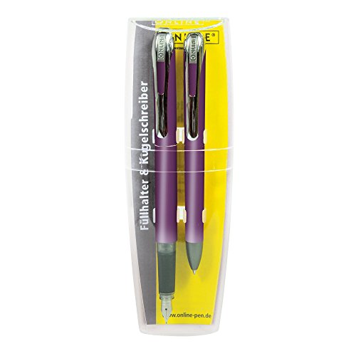 Online 12120 - Schreibset College II, Füllhalter und Kugelschreiber, lila
