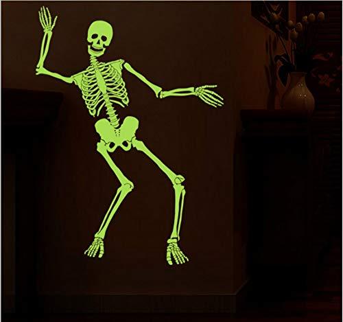 Luminous Dance Skeleton Halloween Spukhaus Bar Ecke Ganze leuchtende Wandaufkleber ()