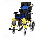 Creativo Ligero Plegable Silla de ruedas para niños Conducción Médica Multifuncional Totalmente tumbado Plano.