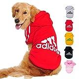 Ducomi Adidog Hondensweater met Capuchon 100% Katoen - Trui Voor Keine, Middelgrote, Grote en Puppyhonden, Geklede Sweatshirts Vacht van XS tot 8XL - Verzonden Vanuit NL (6XL, Rood)