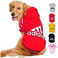 Ducomi Adidog - Sudadera con Capucha para Perros en Algodón Suave - Costuras Resistentes - Disponibles de XS a 8XL - Se envía Desde España (8XL, Rojo)