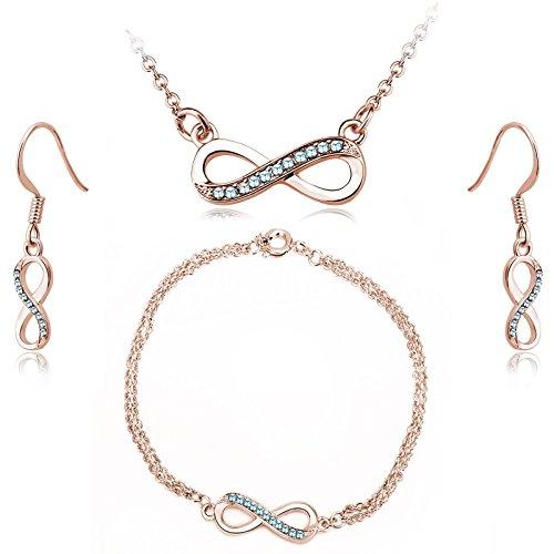 Tim Stone–Collar infinity–Swarovski Elements–oro rosa