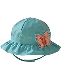 Tangda Chouette Bonnet Chapeau de Bébé en Coton pour Bébé Fille en Plein Air Soleil d'été de Polka Beanie Anti-UV Bord Vague Casquette Panama Plage Camping pour 9mois-8ans