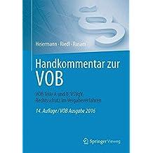 Handkommentar zur VOB: VOB Teile A und B, VSVgV,  Rechtsschutz im Vergabeverfahren