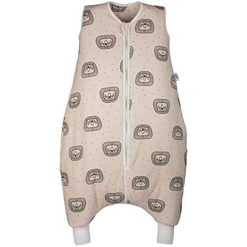 Hosenmax Babyschlafsack mit Beinen - Ganzjahres Schlafsack Baby - Verspielter Löwe Größe 90 cm - Gratis E-Book