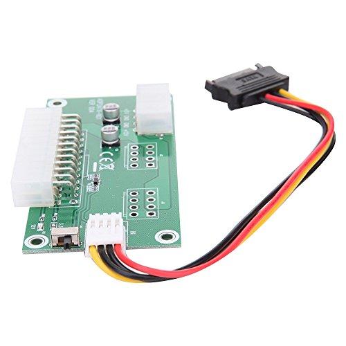 Computer ATX 24 polig Dual PSU Power Synchron Adapter mit SATA Extender Kabel & Handschalter für Bitcoin Ethereum Mining 20-bis 24-pin Netzteil Adapter