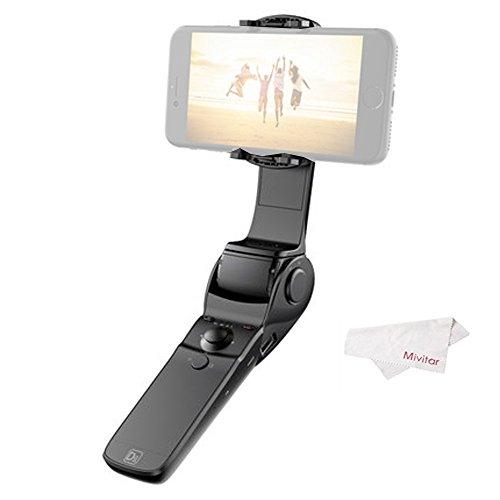 Hohem Gimbal D1 Stabilizzatore portatile pieghevole per smartphone con powerbank incluso, Nero