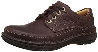 Clarks Men's Nature Three Mahogany Leather Sneakers - 10 UK