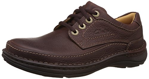 Clarks Men's Nature Three Mahogany Leather Sneakers - 7 UK
