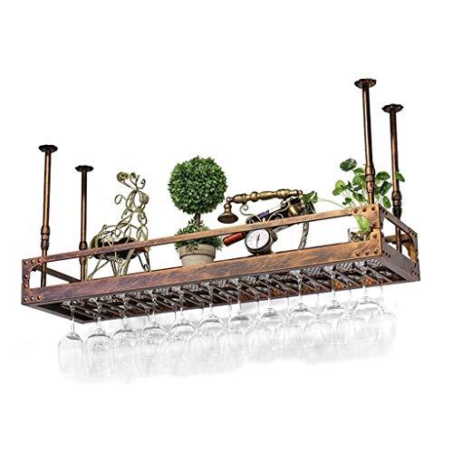 ZELJIUJIA Weinregal-Wandbehang, Weinschrank-Ausstellungsstand, unabhängiger antiker umgekehrter Becherhalter, einfach zu platzieren (Size : 60×35cm) -