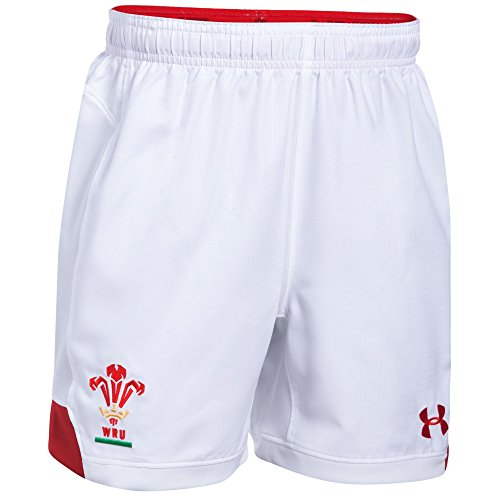 Under Armour Wales WRU 2017/19 Home Replica Rugby Shorts - White