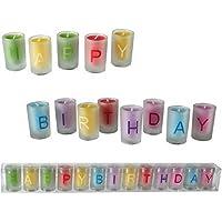 OOTB Set de Velas de Colores en Vaso, diseño Happy Birthday