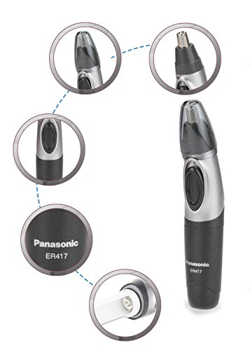 Panasonic ER417K Nose and Ear Hair Battery Operated Trimmer