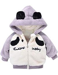 Invierno Abrigo Bebe Niña Niño, Recién Nacido 0-24 Meses Cálido Peludo Cremallera Chaqueta de algodón