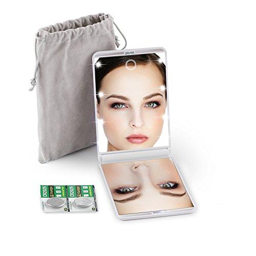 Schönheit & Gesundheit 2019 Led-leuchten Lampen Dame Kosmetik Make-up Make-up Spiegel Klapp Tragbare Kompakte Tasche Hand Spiegel Mit Lichter Machen Up üBerlegene Materialien Schminkspiegel