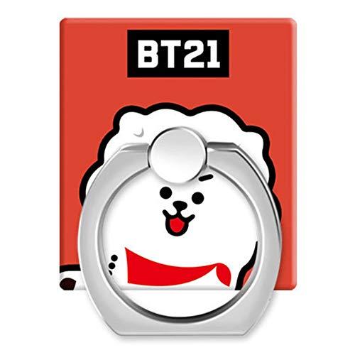 Skisneostype BTS Handyhalter Ring, KPOP Bangtan Jungen Kawaii Cartoon BTS Handy Halter & Ständer mit 360° Drehfunktion Griff für The Army (Style 29) (Bereich 29-shirt)