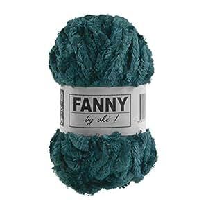 maDDma ® 50g Flausch-Strickgarn FANNY Strickwolle Wolle Handstrickgarn Flauschig Exotisch, Farbe:307 petrol