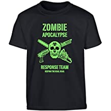 Kombat UK–Camiseta Niños de Zombies de los niños, Infantil, color negro, tamaño 9-11 años