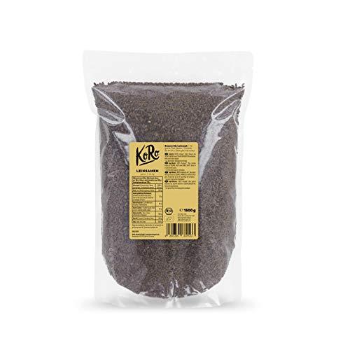 KoRo - Bio Leinsamen 1,5 kg - Ganze Samen aus kontrolliert biologischem Anbau, in der Vorteilspackung