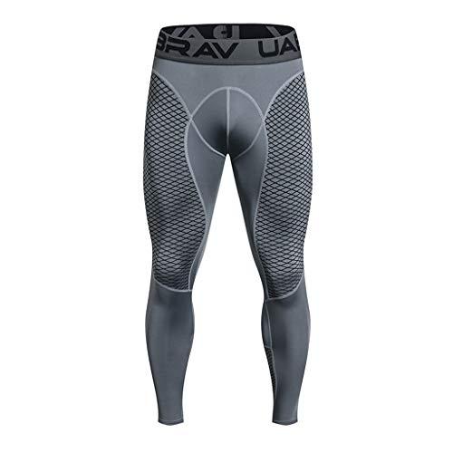 Celucke Sport Leggings Herren Laufhose Strumpfhose mit Print, Männer Fitness Hose Pro Cool Compression Tights mit Quick-Dry-Funktion